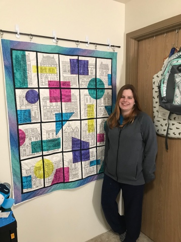 My quilt and I